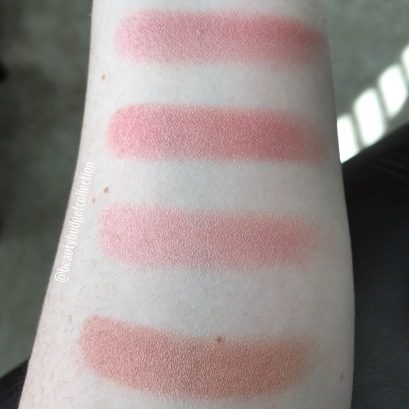 Laura Geller Baked Blush-n-Brighten (top-bottom Pink Buttercream, Berry Trifle, Tropic Hues, Pink Grapefruit)